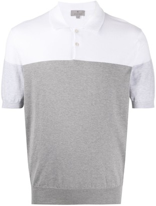 Canali Two-Tone Polo Shirt