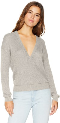 Splendid Women's Surplice Front Sweater