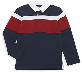 Janie and Jack Baby's, Little Boy's & Boy's Stripe Rugby Polo