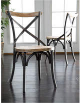 Asstd National Brand 2-pc. Reclaimed Wood Industrial Metal Dining Chairs