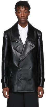 Comme des Garcons Black Faux-Leather Jacket