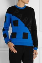 Kenzo Appliquéd cotton-jersey and twill sweatshirt