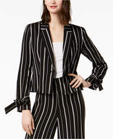 Nine West Striped Tie-Sleeve Blazer