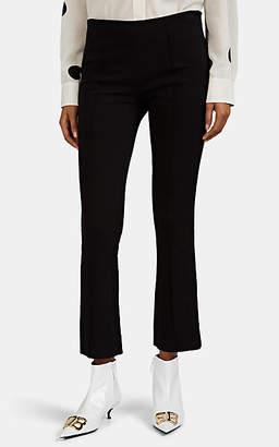 Lisa Perry Women's Piqué Crop Flared Pants - Black
