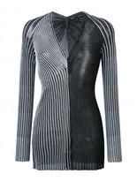 Proenza Schouler v-neck metallic top