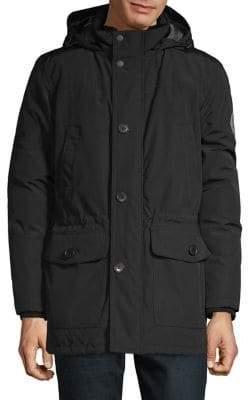 Tommy Hilfiger Arctic Cloth Faux Fur Trim Long Parka