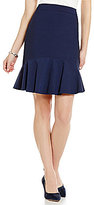 Antonio Melani Shosh Pique Flounce Hem Pencil Skirt