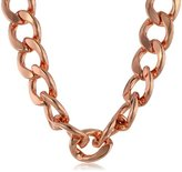 Kenneth Jay Lane Polished Rose Gold Large Flat Link Lobster Claw Clasp Necklace, 19""
