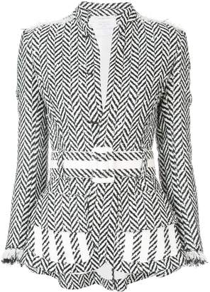 Oscar de la Renta Herringbone Tweed Jacket