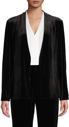 Halston H Open-Front Velvet Jacket