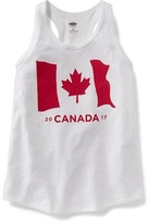 Old Navy Flag-Graphic Canada Racerback Tank for Girls