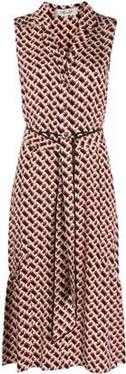 Dvf Diane Von Furstenberg V-neck chain print silk dress