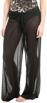 Longitude Solid Mesh Tie-Front Pants (For Women)