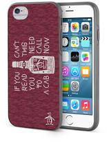 Original Penguin Burgundy/Cream Can&t Read This iPhone 6/6s Case