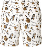 Dolce & Gabbana jazz club print swimming trunks