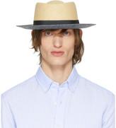Giorgio Armani Beige Straw Boater Hat