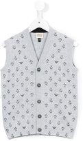 Armani Junior patterned knit vest