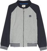 Armani Junior Logo Cotton-blend Bomber Jacket 4-16 Years