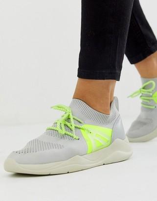 ASOS DESIGN Discipline knitted sneakers in gray