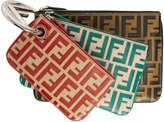 Fendi Multicolor All Over F is Triplette Ring Clutch Set