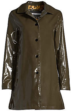 Jane Post Women's Faux Fur-Lined Rain Coat