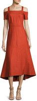 A.L.C. Daniel Cold-Shoulder Midi Dress