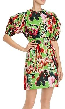 MSGM Abito Cotton Printed Mini Dress