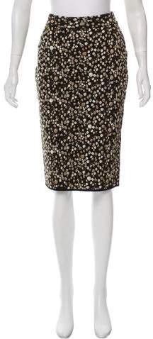 Givenchy Wool Intarsia Skirt w/ Tags