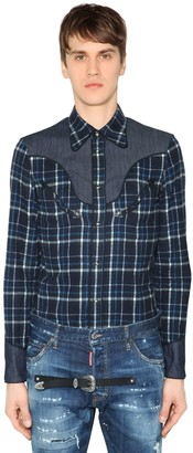 DSQUARED2 Western Brushed Cotton Flannel Shirt