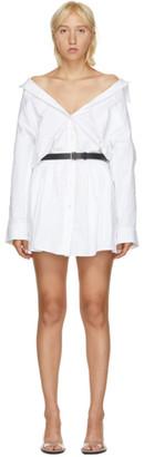 Alexander Wang White Mini Shirt Dress