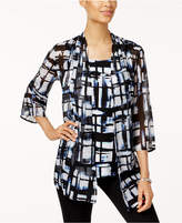 JM Collection Petite Printed Layered-Look Blouse, Only at Macy's