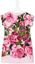 Dolce & Gabbana rose print dress - kids - Cotton/Viscose - 2 yrs
