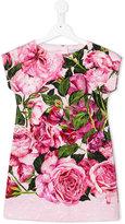 Dolce & Gabbana rose print dress - kids - Viscose/Cotton - 2 yrs