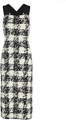 Proenza Schouler White Label Gingham Jacquard Knit Midi Dress