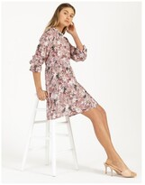 Thumbnail for your product : Only Trudy Frill Cloud Dancer Mini Dress Cloud Dancer