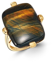 Bloomingdale's Blue Tiger Eye Statement Ring in 14K Yellow Gold - 100% Exclusive
