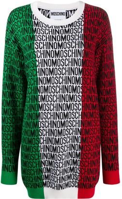 Moschino Logo Print Knitted Dress