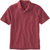 L.L. Bean Premium Double L Polo, Hemmed Short-Sleeve With Pocket