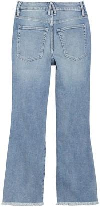 Good American Good Distressed Curve Fray Hem Jeans (Regular & Plus Size)