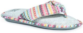 Muk Luks Thong Slippers - Dawna