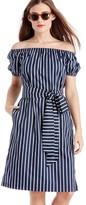 Sole Society Stripe Off the Shoulder Midi Dress