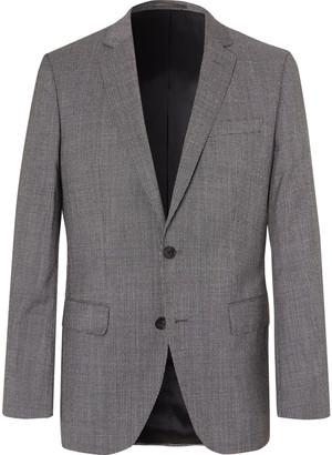 HUGO BOSS Grey Hartley Slim-Fit Puppytooth Wool Suit Jacket