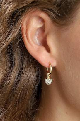 Pilgrim Heart-Drop Gold-Plated Earrings