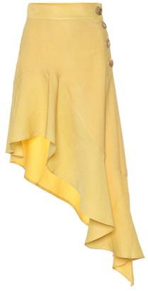 REJINA PYO Ella linen-blend skirt