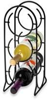 Spectrum Horseshoe 3-Bottle Metal Wine Rack in Black