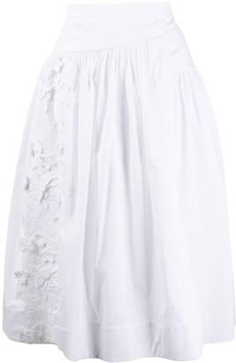 Rochas Pleated Wrap Skirt