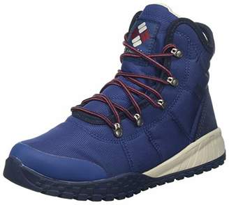 Columbia Men's Fairbanks Omni-Heat Winter Boot, Blue (Carbon, Red Jas), 44.5 EU