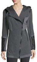 Blanc Noir Update Traveler Zip-Front Long Jacket