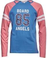 Board Angels Girls Raglan Long Sleeve Top With Floral 85 Print Pink/Blue