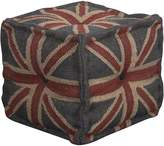 Artisan Decor Ottomans & Floor Cushions Union Jack Ottoman, Dark Purple Blue
